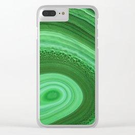 Green Agate Clear iPhone Case