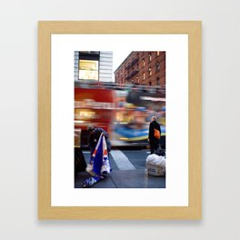 New York Streets Framed Art Print
