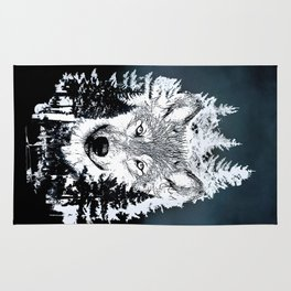 Forest Wolf Art Rug