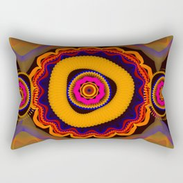 Modern abstract colourful fantasy flower Rectangular Pillow