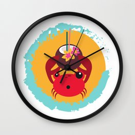 Tropical Crab Wall Clock