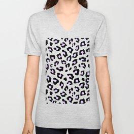 Leopard Print - Lavender Blush Unisex V-Neck
