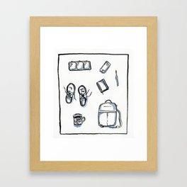 Things at school Framed Art Print