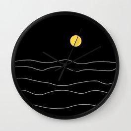 Black Ocean Wall Clock