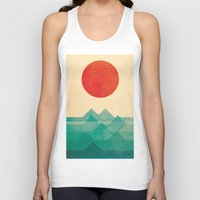 new york skyline Tank Tops featuring The ocean, the sea, the wave by Picomodi