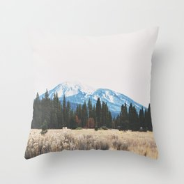 Mount Burney Throw Pillow