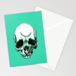 Green Skull Stationery Cards