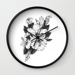 The Chinese Rose & The Tree Frog Wall Clock