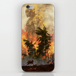 The fire demon of the rainforests iPhone Skin