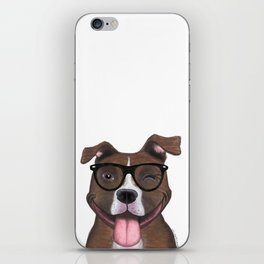 Hipster Pit Bull iPhone Skin