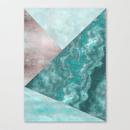 Gemstone And Geode Triangles Canvas Print