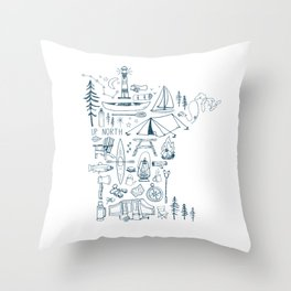 Minnesota Up North Collage Throw Pillow