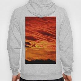 Flame Coloured Sunset Sky Hoody