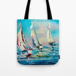 YACHTS ON THE WIND Tote Bag