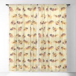 Bumblebee and fish Sheer Curtain
