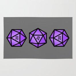 Purple d20 Rug