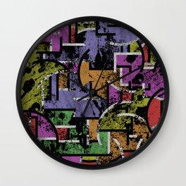 Textured Segregation Wall Clock