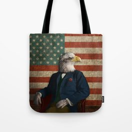 Official Portrait of Senator Silas Eagle Tote Bag