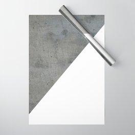 Concrete Vs White Wrapping Paper