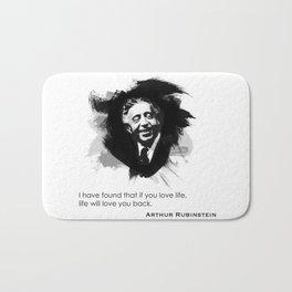 Arthur Rubinstein - Love Life Bath Mat