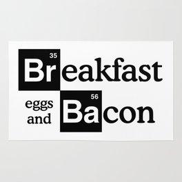 Breaking Bad Logo - Breakfast, eggs,bacon- Heisenberg - TV Rug
