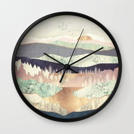 Golden Spring Reflection Wall Clock