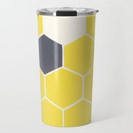 Yellow Honeycomb Travel Mug