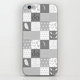 Magic Private School cheater quilt patchwork wizarding witches and wizards iPhone Skin