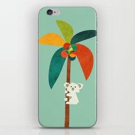 Koala on Coconut Tree iPhone Skin