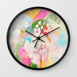 fantasia: abstract painting Wall Clock