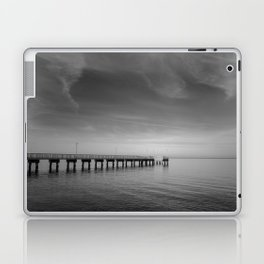 End of the Pier Landscape Photograph - Wall Art Laptop & iPad Skin
