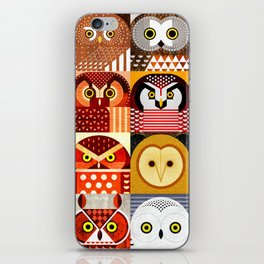 North American Owls iPhone Skin