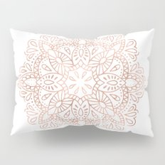 Mandala Rose Gold Pink Shimmer by Nature Magick Pillow Sham