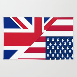 American and Union Jack Flag Rug