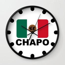 El Chapo Mexican flag Wall Clock