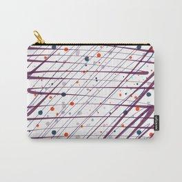 Maroon Splatter Pattern Carry-All Pouch