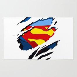 superhero torn - SuperMan Rug