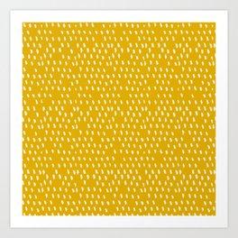 Yellow Modernist Art Print