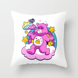Who cares? Bear Throw Pillow