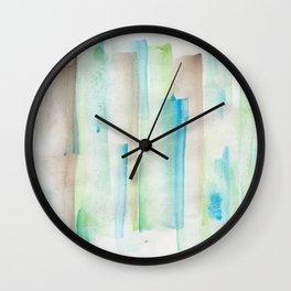 180713 Watercolor Play 1 Wall Clock