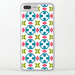 Fashion modern design beautiful patterns. Stylish graphic colors ornament textures Clear iPhone Case