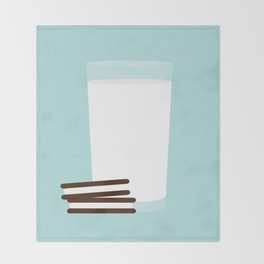 #25 Milk and Cookies Throw Blanket