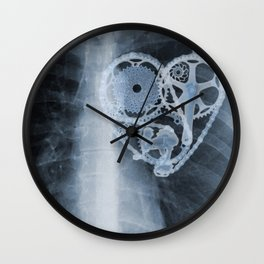 X Ray Bicycle heart components Wall Clock