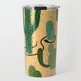 The Snake, The Cactus and The Desert Travel Mug