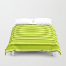 Lime Green Stripes Duvet Cover
