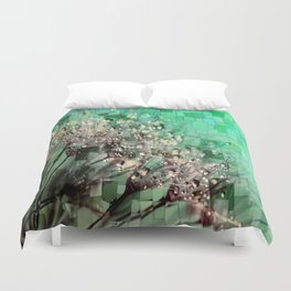 Fresh Dandelions Mosaic Duvet Cover