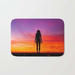 silhouette photography of a woman Bath Mat