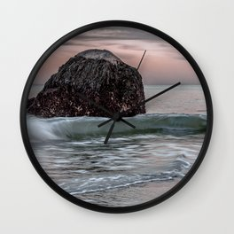 Wave at haystack in Rockport Wall Clock