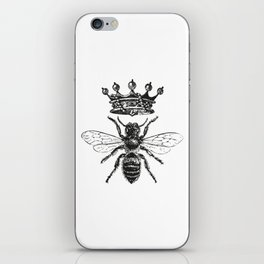 Queen Bee | Black and White iPhone Skin