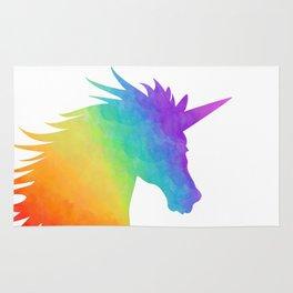 Rainbow Unicorn Silhouette Rug